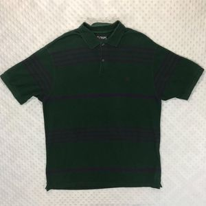 Ralph Lauren Chaps Green Striped Polo Shirt